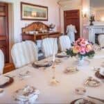 Museum dinner table setting