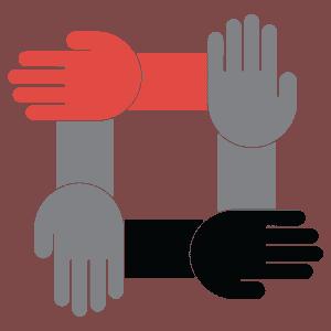 interlocking hands icon