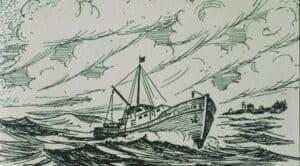 Illustration of motor vessel