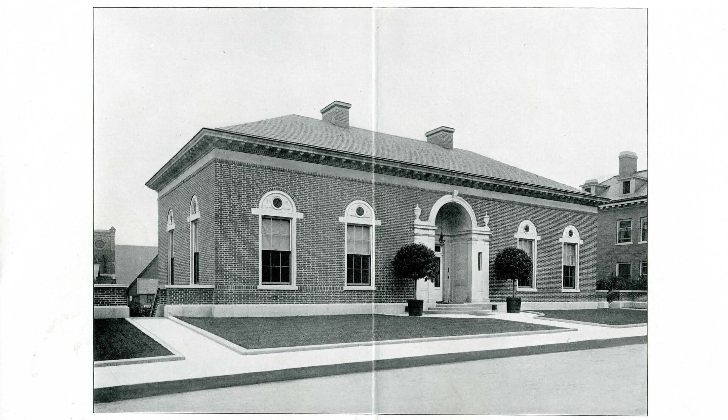 historical photo of library exterior