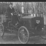 1908 auto and driver from digital archive