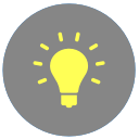 lightbulb of knowledge icon